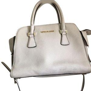 Michael Kors Medium Leather Cross Body Bag - White